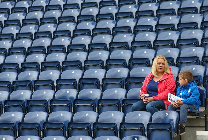 Preston North End fans take their seats before the match<br /> <br /> Photographer Alex Dodd/CameraSport<br /> <br /> The EFL Sky Bet Championship - Preston North End v Sunderland - Saturday 30th September 2017 - Deepdale Stadium - Preston<br /> <br /> World Copyright &copy; 2017 CameraSport. All rights reserved. 43 Linden Ave. Countesthorpe. Leicester. England. LE8 5PG - Tel: +44 (0) 116 277 4147 - admin@camerasport.com - www.camerasport.com