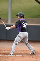 Colorado Rockies second baseman Max George (82) during an Instructional League game against the Arizona Diamondbacks on October 8, 2014 at Salt River Fields at Talking Stick in Scottsdale, Arizona.  (Mike Janes/Four Seam Images)