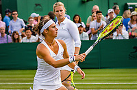 London, England, 4 th. July, 2018, Tennis,  Wimbledon, Woman's doubles: Ysaline Bonaventure (BEL) and Bibiane Schoofs (NED) (L)<br /> Photo: Henk Koster/tennisimages.com