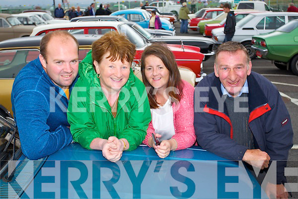 Pictured at Blennerville Vintage and Thresing fair on Sunday were l-r: Paddy Fitzgerald (Tralee) Marion Gaynor (Ballyheigue) Elma Kelly (Causeway) and James Fitzgerald (Causeway).