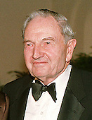 Mr. David Rockefeller, former Chairman, Chase Manhattan Bank, arrives at The White House in Washington, DC for the State Dinner honoring Chinese President Jiang Zemin October 29, 1997.<br /> Credit: Ron Sachs / CNP