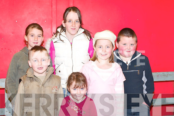 LAUGHTER: Beiblinn Moran, Jamie OSullivan, Catriona OMahony, Katie OSullivan, Rebecca OSullivan and Alan OSullivan having a laugh at The Wizard of Oz pantomime in Rathmore Community Centre last Sunday.