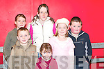 LAUGHTER: Beiblinn Moran, Jamie OSullivan, Catriona OMahony, Katie OSullivan, Rebecca OSullivan and Alan OSullivan having a laugh at The Wizard of Oz pantomime in Rathmore Community Centre last Sunday.