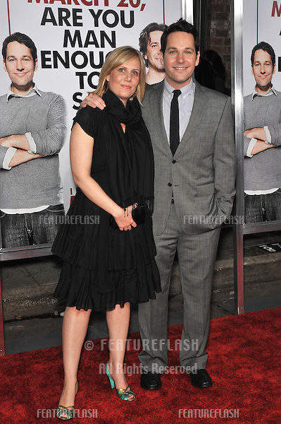 "Paul Rudd & Julie Yaeger at the Los Angeles premiere of his new movie ""I Love You, Man"" at the Mann's Village Theatre, Westwood..March 17, 2009  Los Angeles, CA.Picture: Paul Smith / Featureflash"