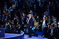 Washington, DC - March 21, 2016: Businessman and republican presidential candidate Donald Trump waves to the audience before addressing attendees of the AIPAC Policy Conference at the Verizon Center in the District of Columbia, March 21, 2016.  (Photo by Don Baxter/Media Images International)
