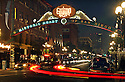 The entrance to the Gaslamp Quarter in downtown San Diego.  freelance photo by Bill Wechter