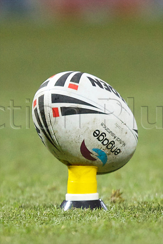 01.01.2011 Rugby League Leeds Rhinos v Wakefield Trinity Wildcats. Festive Charity Trophy. A match ball.