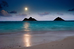 Full Moon at Lanikai, Kailua, Hawaii
