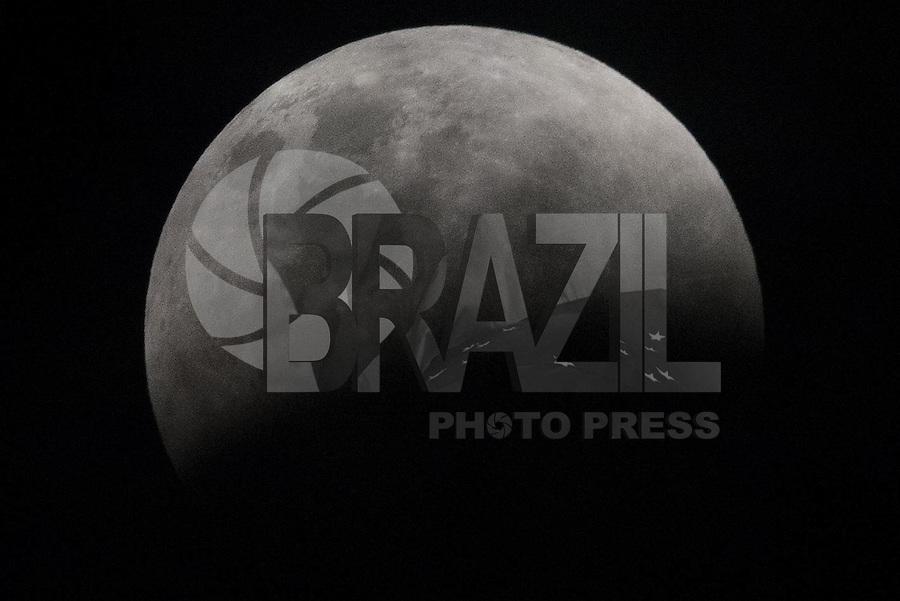 PIRACICABA,SP, 27.09.2015 - LUA-ECLIPSE. Super Lua e eclipse lunar é visto em Piracicaba, interior de São Paulo, na noite deste domindo. ( Foto: Mauricio Bento/ Brazil Photo Press)