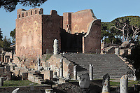 Capitolium, built during the reign of Hadrian, c. 120 AD, Ostia Antica, Italy. Picture by Manuel Cohen