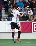 AMSTELVEEN - Niek Merkus (A'dam)   tijdens  de  eerste finalewedstrijd van de play-offs om de landtitel in het Wagener Stadion, tussen Amsterdam en Kampong (1-1). Kampong wint de shoot outs.  . COPYRIGHT KOEN SUYK