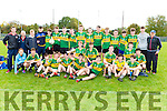 Pobal Scoil Inbhear Sceine team celebrate after winning the Moynihan cup after they defeated Gaelcholaiste Chiarrai in Lewis Road on Friday
