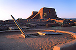 Kiva and mission church ruin, Pecos National Monument, New Mexico