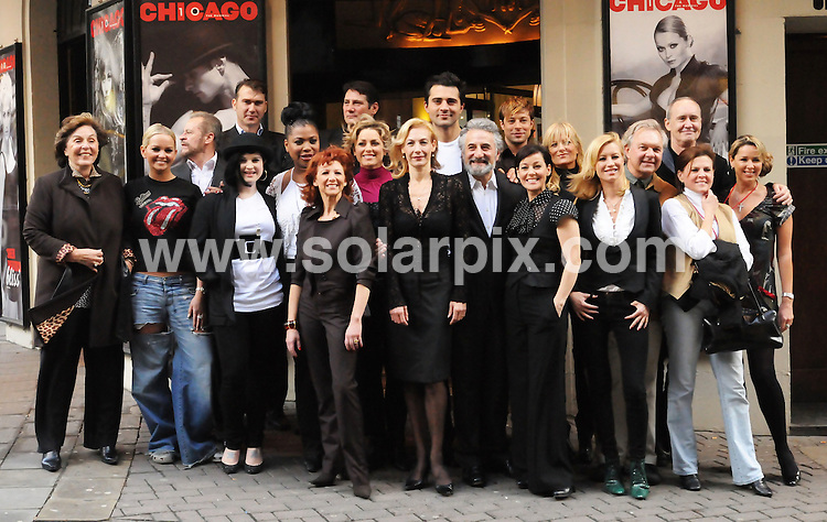 **ALL ROUND PICTURES FROM SOLARPIX.COM**.**WORLDWIDE SYNDICATION RIGHTS**. The Cast past and present attend photocall to celebrate the 10th Anniversary of Chicago. At the Cambridge Theatre in London on 5 December 2007..THIS PIC: The Cast past and present attend photocall to celebrate the 10th Anniversary of Chicago.JOB REF: 5455- SSD     DATE:05_12_07.**MUST CREDIT SOLARPIX.COM OR DOUBLE FEE WILL BE CHARGED* *UNDER NO CIRCUMSTANCES IS THIS IMAGE TO BE REPRODUCED FOR ANY ONLINE EDITION WITHOUT PRIOR PERMISSION*