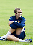 James McFadden at Scotland training