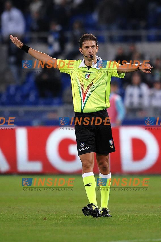 """L'arbitro Paolo TAGLIAVENTO.Roma 16/10/2011 Stadio """"Olimpico"""".Football Calcio Serie A 2011/2012.Lazio Vs Roma .Foto Insidefoto Andrea Staccioli"""