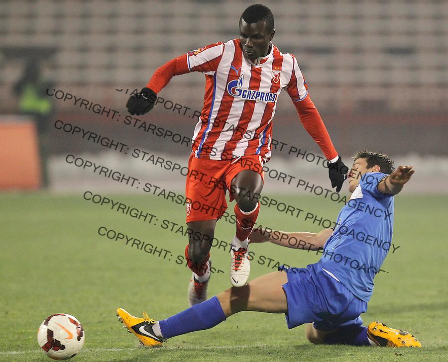 Fudbal Kup Srbije season 2013-2014<br /> Crvena Zvezda v Vojvodina<br /> Abiola Dauda (L)<br /> Beograd, 04.12.2013.<br /> foto: Srdjan Stevanovic/Starsportphoto &copy;