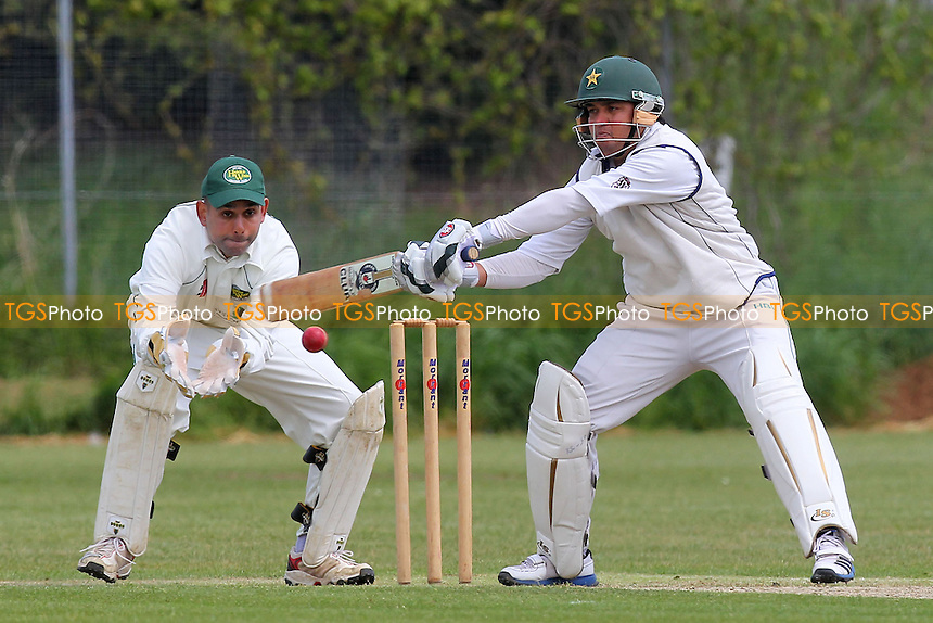 S Qadir in batting action for Hainault - Hainault & Clayhall CC vs Harold Wood CC - Essex Cricket League - 25/05/13 - MANDATORY CREDIT: Gavin Ellis/TGSPHOTO - Self billing applies where appropriate - 0845 094 6026 - contact@tgsphoto.co.uk - NO UNPAID USE.