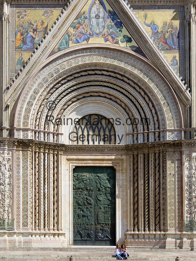 Italien, Umbrien, Orvieto: Dom Santa Maria (erbaut 13./14. Jh.) - Hauptportal | Italy, Umbria, Orvieto: cathedral Santa Maria (built 13./14. century) - main portal