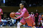 08 February 2015: Clemson's Tiffany Lewis. The Duke University Blue Devils hosted the Clemson University Tigers at Cameron Indoor Stadium in Durham, North Carolina in a 2014-15 NCAA Division I Women's Basketball game. Duke won the game 89-60.