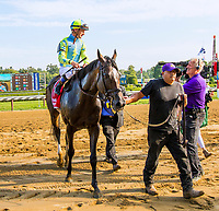 SARATOGA SPRINGS, NY - AUGUST 25: Glorious Empire  #1, ridden by jockey Julien Leparoux, wins the Sword Dancer Srakes on Travers Stakes Day at Saratoga Race Course on August 25, 2018 in Saratoga Springs, New York. (Photo by Sue Kawczynski/Eclipse Sportswire/Getty Images)