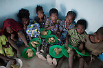 NAZARETH, ETHIOPIA - NOVEMBER 9 : School children receive a hot meal at rural school provided by the WFP on November 9, 2010 in central Nazareth, Ethiopia. Most of the children here only come to school because of this feeding scheme. Many walk for an hour or two to school every morning. (Photo by: Per-Anders Pettersson)