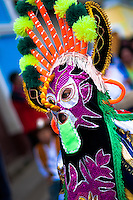 "A man dancer in a colorful costume performs Aya Uma, the creature from the Indian myths, during the Inti Raymi fiesta in Pichincha province, Ecuador, 27 June 2010. Inti Raymi, ""Festival of the Sun"" in Quechua language, is an ancient spiritual ceremony held in the Indian regions of the Andes, mainly in Ecuador and Peru. The lively celebration, set by the winter solstice, goes on for various days. The highland Indians, wearing beautiful costumes, dance, drink and sing with no rest. Colorful processions in honor of the God Inti (Sun) pass through the mountain villages giving thanks for the harvest and expressing their deep relation to the Mother Earth (Pachamama)."