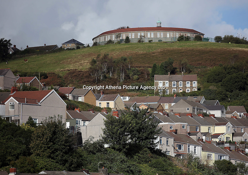 WORDS BY KARL WEST<br /> Pictured: Mayhill School (TOP) and houses in the area of Mount Pleasant as seen from a High Street roof top Friday 30 September 2016<br /> Re: The regeneration of the High Street in Swansea, Wales, UK