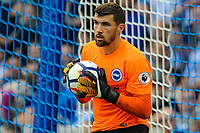 Mathew Ryan Goalkeeper of Brighton & Hove Albion (1)  during the EPL - Premier League match between Brighton and Hove Albion and Manchester City at the American Express Community Stadium, Brighton and Hove, England on 12 August 2017. Photo by Edward Thomas / PRiME Media Images.