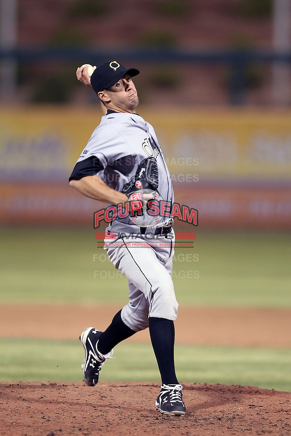 Everett Teaford #17 of the Omaha Storm Chasers plays in a Pacific Coast League game against the Albuquerque Isotopes at Isotopes Park on May 3, 2011  in Albuquerque, New Mexico. .Photo by:  Bill Mitchell/Four Seam Images.