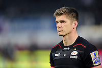 Owen Farrell of Saracens looks on after the match. Aviva Premiership match, between Saracens and Leicester Tigers on October 29, 2016 at Allianz Park in London, England. Photo by: Patrick Khachfe / JMP