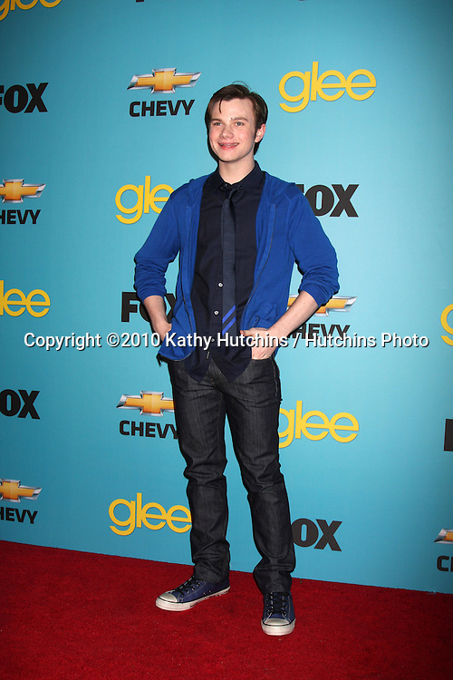 Chris Colfer.arrives at the GLEE Spring Premiere Party 2010.Chateau Marmont.Los Angeles, CA.April 12, 2010.©2010 Kathy Hutchins / Hutchins Photo...