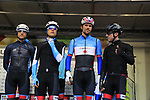 Team Canada at sign on before the Men Elite Road Race of the UCI World Championships 2019 running 280km from Leeds to Harrogate, England. 29th September 2019.<br /> Picture: Eoin Clarke | Cyclefile<br /> <br /> All photos usage must carry mandatory copyright credit (© Cyclefile | Eoin Clarke)