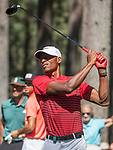 Ray Allen hits a tee shot on the fourth hole during the American Century Championship at Edgewood Tahoe Golf Course in Stateline, Nevada, Saturday, July 14, 2018.