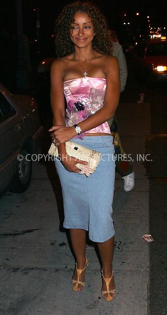 Singer Mya attends the Heatherette Fashion Show in Downtown Manhattan. September 17, 2002. Please byline: Alecsey Boldeskul/NY Photo Press.   ..*PAY-PER-USE*      ....NY Photo Press:  ..phone (646) 267-6913;   ..e-mail: info@nyphotopress.com