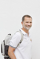 02 August 2017 - Palma, Spain - King Felipe arrives at the port of RCNP in Palma. Photo Credit: PPE/face to face/AdMedia