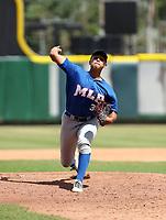 Luis Carrasco participates in the MLB International Showcase at Estadio Quisqeya on February 22-23, 2017 in Santo Domingo, Dominican Republic.