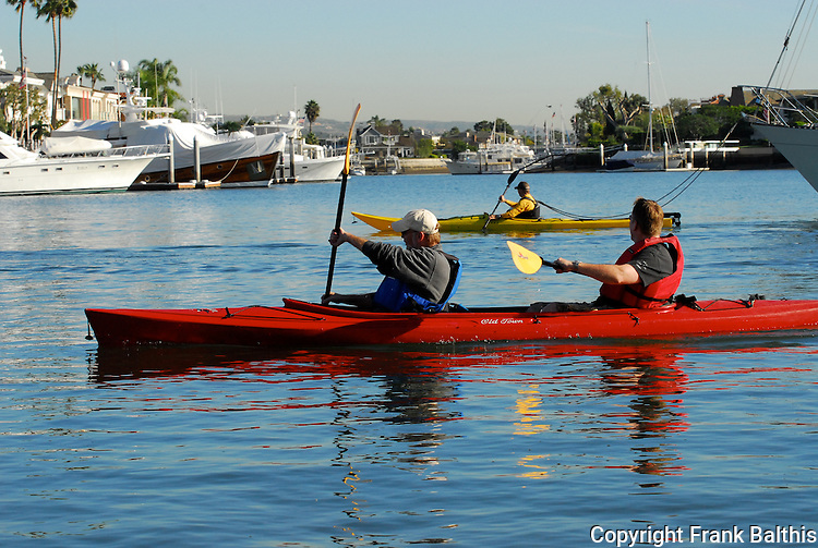 Sea kayaking in Balboa Bay
