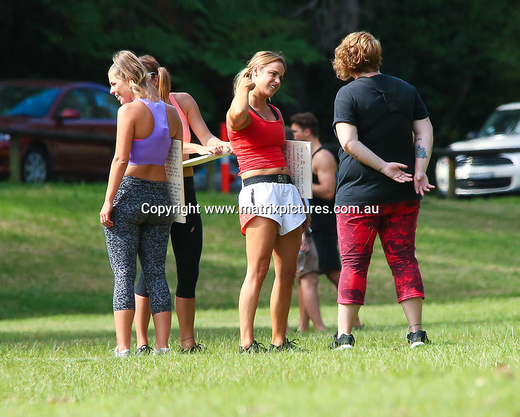 21 APRIL 2017 SYDNEY AUSTRALIA<br /> WWW.MATRIXPICTURES.COM.AU<br /> <br /> EXCLUSIVE PICTURES<br /> <br /> Bachelor Matthew Johnson (Matty) pictured with the final seven contestants on a group date at a park in Double Bay, Matty put the girls to the test with a fitness session including boxing lessons.<br /> <br /> Note: All editorial images subject to the following: For editorial use only. Additional clearance required for commercial, wireless, internet or promotional use.Images may not be altered or modified. Matrix Media Group makes no representations or warranties regarding names, trademarks or logos appearing in the images.