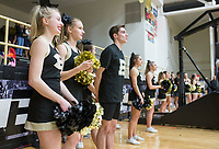 NWA Democrat-Gazette/CHARLIE KAIJO Bentonville High School cheerleaders cheer during a basketball game on Friday, January 12, 2018 at Bentonville High School in Bentonville.