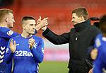 06.02.2019:Aberdeen v Rangers: Steven Gerrard and Ross McCrorie