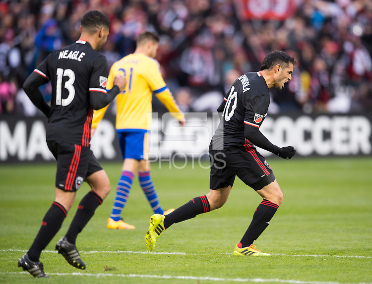 Washington, DC - March 20, 2016: D.C. United tied the Colorado Rapids 1-1 during their Major League Soccer (MLS) match at RFK Stadium.