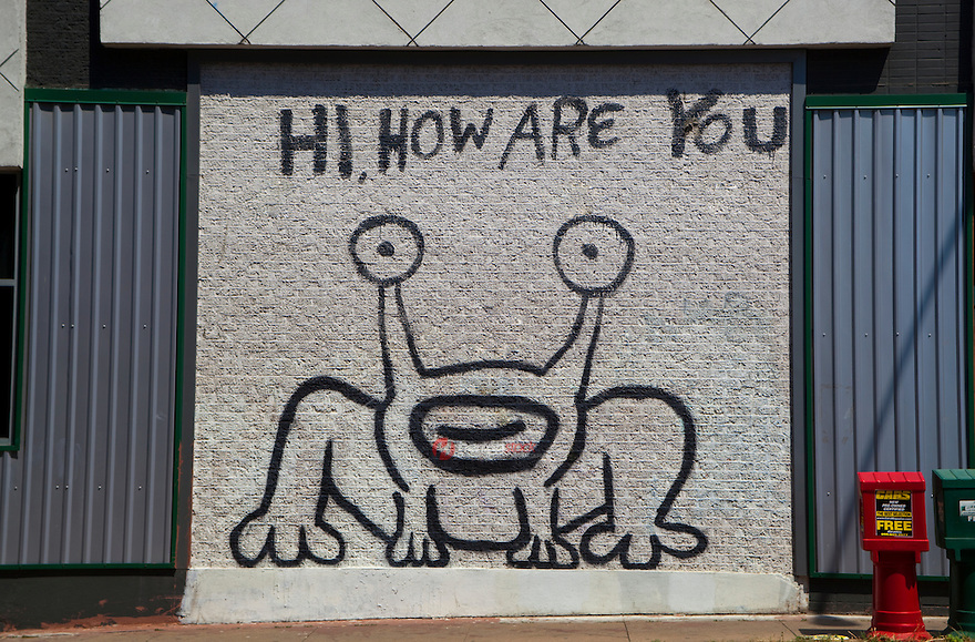 Daniel johnston created a notable austin landmark in 1993 for Daniel johnston mural