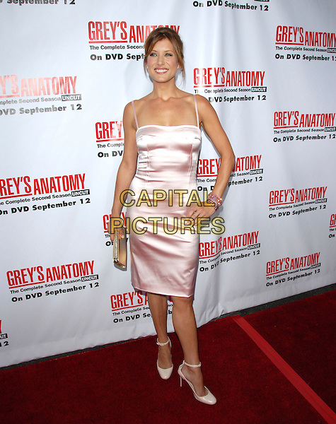 KATE WALSH.The Grey's Anatomy 2nd Season DVD Launch held at Social in Hollywood, California, USA..September 5th, 2006.Ref: DVS.full length pink satin dress gold clutch purse bracelet hand on hip.www.capitalpictures.com.sales@capitalpictures.com.©Debbie VanStory/Capital Pictures
