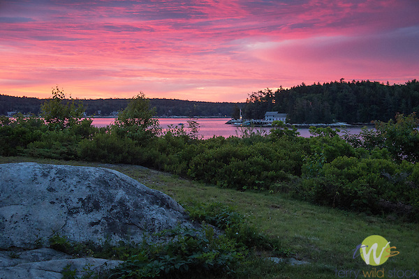 Sunrise over Boothbay Harbor, ME.