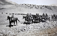 BNPS.co.uk (01202 558833)<br /> Pic: LaceyScott&Knight/BNPS<br /> <br /> Officers rode horses, and the troops marched.<br /> <br /> From the far reaches of the British Empire - Remarkable previously unseen photos of a forgotten military campaign has come to light 100 years later.<br /> <br /> The little known Waziristan campaign of 1919 and 1920 saw the British and Indian forces engaged in fierce fighting against Afghan tribesman who invaded northern India.<br /> <br /> However, the conflict, which saw the use of the might of the RAF in targeted bombing raids, has become almost lost to history since it took place just after the Great War.<br /> <br /> The battleground was the rugged, remote, mountainous region which is modern day northern Pakistan, on the southern border of Afghanistan.