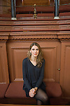 Clare Mulley, The Spying Game: Reality and Fiction at the Sheldonian, during the Sunday Times Oxford Literary Festival, UK, 16 - 24 March 2013.<br />