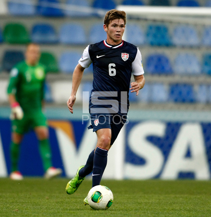 USA's William Trapp during their FIFA U-20 World Cup Turkey 2013 Group Stage Group A soccer match Ghana betwen USA at the Kadir Has stadium in Kayseri on June 27, 2013. Photo by Aykut AKICI/isiphotos.com