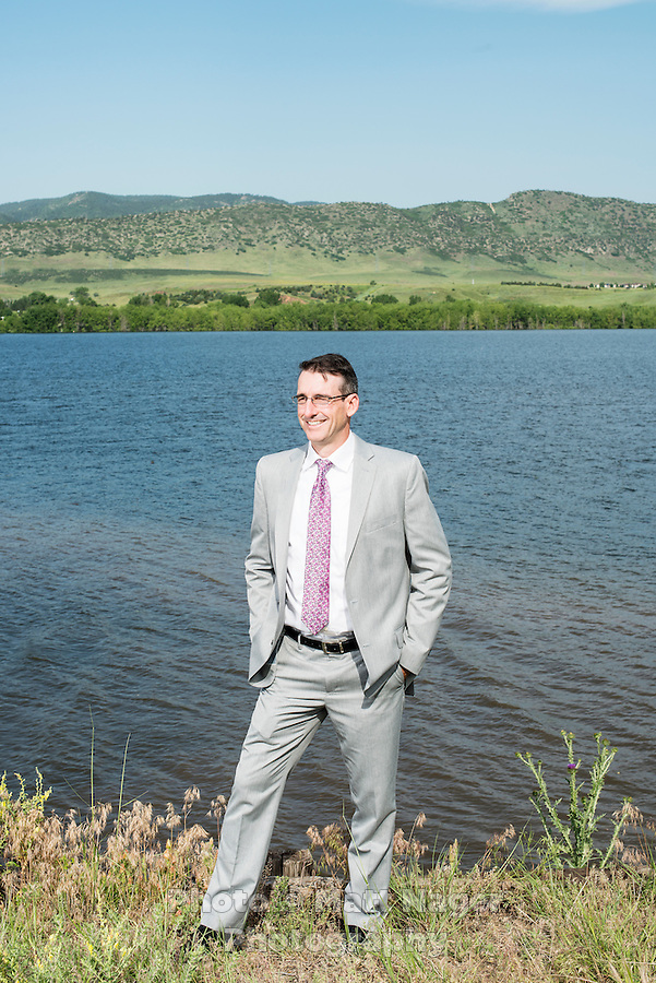 Castle Rock Utilities Director Mark Marlowe (cq) at Chatfield Reservoir, in Littleton, Colorado, Monday, June 23, 2015. The reservoir and dam were built by the United States Army Corps of Engineers as a response to a flooding of the South Platte River in 1965. In addition to its primary purpose of flood control, it serves as one of many water supply reservoirs for the city of Denver, Colorado. <br /> <br /> <br /> Photo by Matt Nager