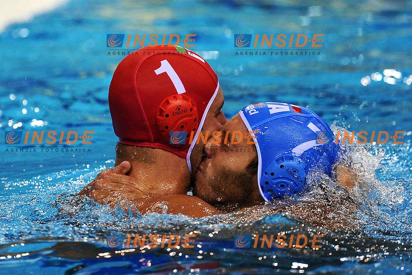 Esultanza di Stefano TEMPESTI e Niccolo FIGARI Italia.Men's waterpolo semifinal Italia Vs Croazia - Pallanuoto.Shanghai 28/7/2011 .14th FINA World Championships.Foto Andrea Staccioli Insidefoto